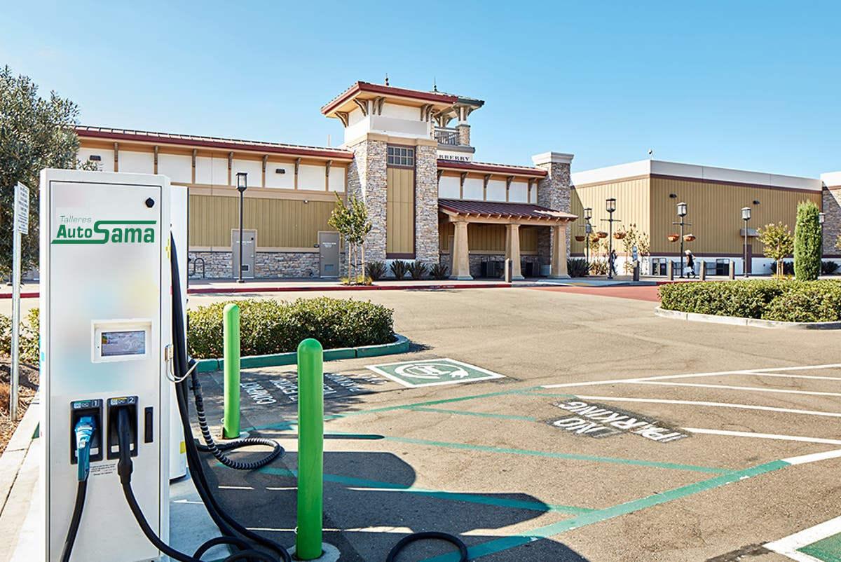 Restaurantes y Centros Comerciales puntos de recarga instalados por Talleres Autosama